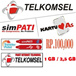 *TELKOMSEL * PULSA 100 RIBU / INJECT PAKET INTERNET [ 800 mb / 2.5 GB]