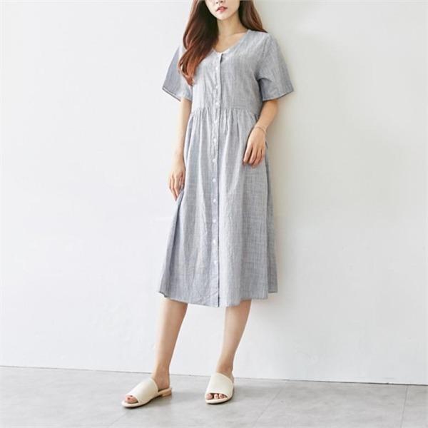 イニクフリーズボタンOPSワンピースnew ロング/マキシワンピース/ワンピース/韓国ファッション