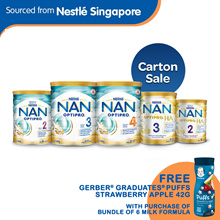 Bundle of 6 [Nestle] Nan Optipro2/3/4 and Optipro H.A. 2/3 Formula Milk x 6tins. Free Gerber Puff!