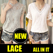 [BUY 2 FREE SHIPPING] 2017 NEW HIGH QUALITY LACE BLOUSE TOP