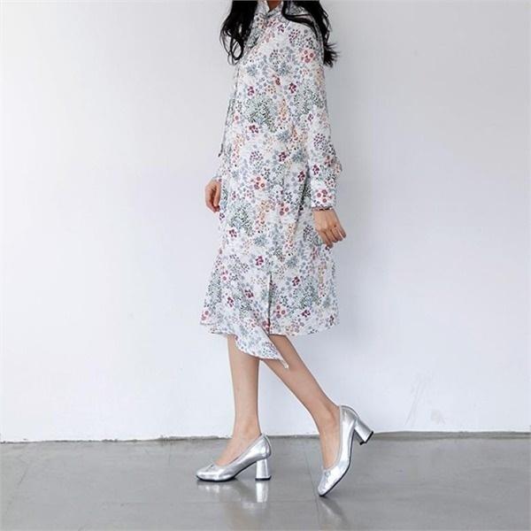 [アーバンフラン]一日フラワーワンピース(2color)new ロング/マキシワンピース/ワンピース/韓国ファッション
