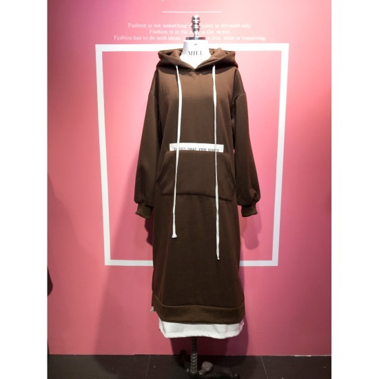 スタジオホワイトプレミアムフードロングワンピースMCB11Q197 面ワンピース/ 韓国ファッション