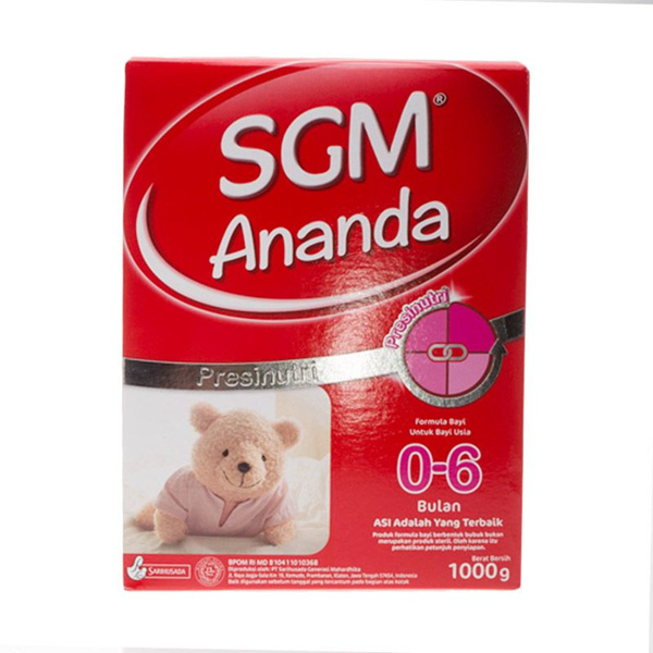 SGM Ananda 1 1000gram Deals for only Rp118.000 instead of Rp118.000