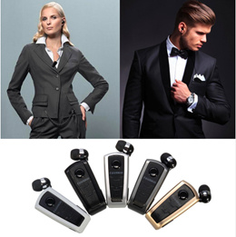 In Ear Earphone F910 Wireless Bluetooth Retractable Earphones With Collar Clip Support Calls Remind Vibration