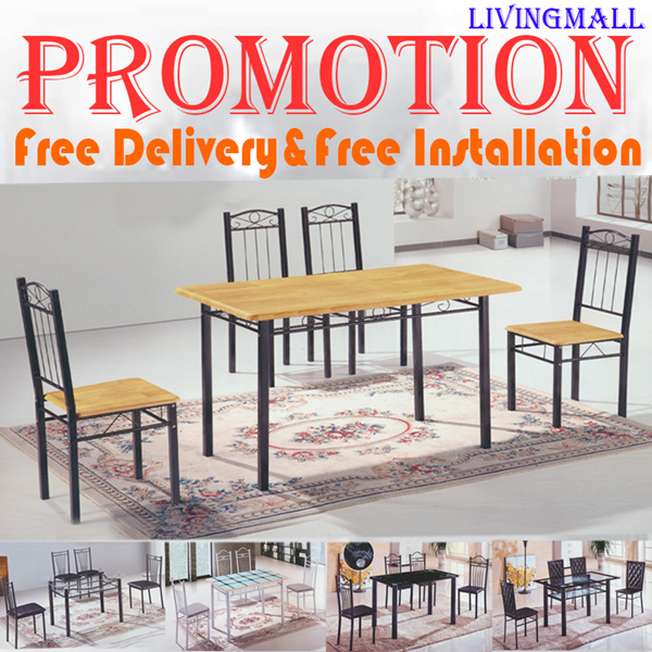 [LIVINGMALL-19007] *DINING SET* LOWEST PRICE_HOT SALE!!! FREE DELIVERY AND FREE INSTALLATION!!! Deals for only S$399 instead of S$0