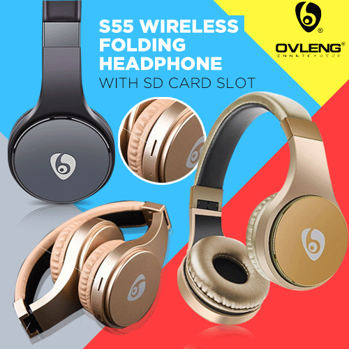 [ORIGINAL] OVLENG S55 Sports Style Folding Bluetooth Headphones Deals for only Rp245.000 instead of Rp245.000