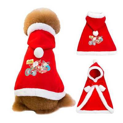 Christmas Pet Costumes.Outlet Christmas Pet Clothes Cloaks With Cap Dogs Cat Bowknot New Year Costumes Xmas Puppy Dogs Clot