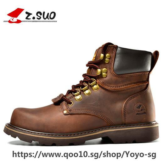 Winter Shoes Men Martin Boots Genuine