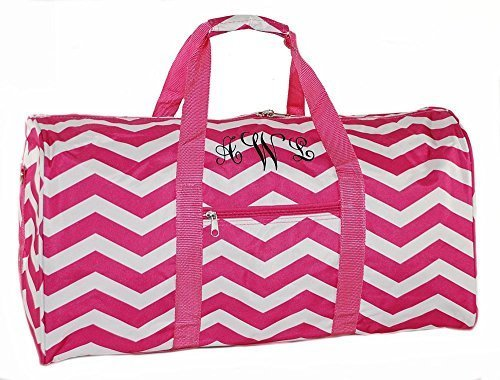 Ld Bags Personalized Duffle Bag Overnight Cheer Hot Pink Chevron 22