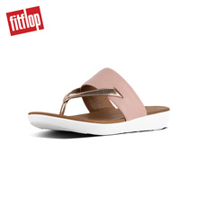 [NEW] FITFLOP DELTA TOE-THONG SANDALS DUSKY PINK/ROSE GOLD MIRROR ★100% Authentic★