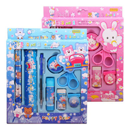 Stationery set 9-in-1 for children school boys and girls