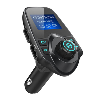 Wireless Bluetooth FM transmitter Radio Adapter Car Kit with 2.4A Dual USB Car Charger MP3 Player Music Controls /& Hands-Free Calling LCD Display C30S