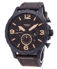 [CreationWatches] Fossil Nate Chronograph Brown Leather JR1487 Mens Watch