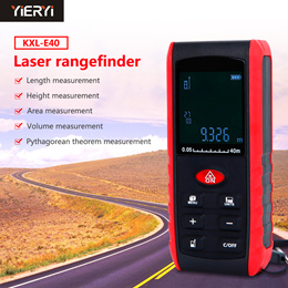 KETOTEK Laser Distance Meter 40M Laser Measure Digital LCD Portable Distance Measure Tool for Length Volume Area Pythagorean with Bubble Level Batteries Included 40m