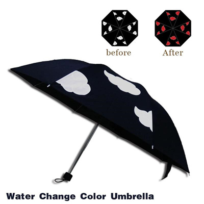 ATONO Beautiful Floral And Butterfly Double Layer Inverted Reverse Folding Stick Umbrellas Windproof Anti-UV C-Shaped Handle for Car Rain Outdoor