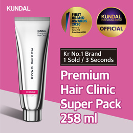[KUNDAL] Premium Hair Clinic Super Pack 258ml ✨Kr No.1 Brand✨⭐1 sold in EVERY 3 Seconds⭐