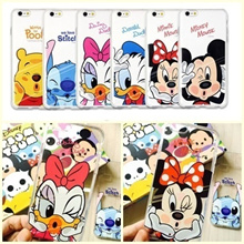 Hot Sale Disney Cartoon Character Thin TPU Case for iPhone6 for iPhone6 PLUS Case Phone Protective Shell Cover