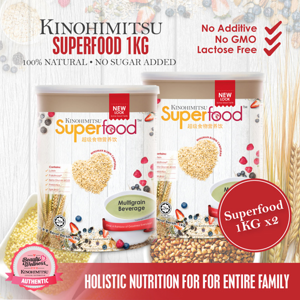Kinohimitsu Superfood 1KG x 2 Deals for only RM1.09 instead of RM1