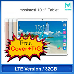 New mosimosi 10.1inches Android Tablet LTE Version 32GB ROM Quad-Core 8MP Camera (SG Warranty)