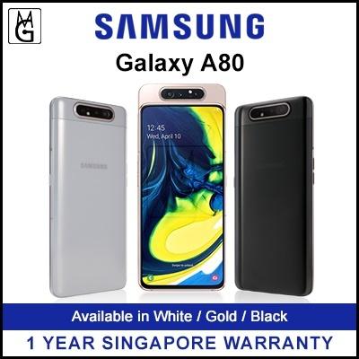 Samsung MobileSamsung Galaxy A80 Mobile Phone 2019  8GB RAM / 128GB ROM / 1  Year Samsung Local Warranty