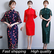 2019 CNY Cheongsam Best Quality Qipao Natural Silk Modern Improved Plus Size Chinese Dress Tradition