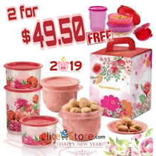 FREE DELIVERY! *Tupperware Cookie CNY Gift Set FREE Mini Mermaid * Topper Free Cookies Chinese Halal