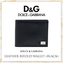 Dolce  Gabbana Leather Bifold Wallet (Black)