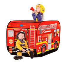 Fire Truck Tent Pop-up Kids Tent Foldable Toys Happytime ZM17014