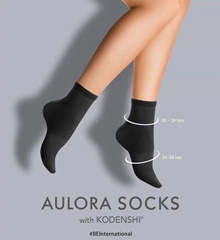 JAPAN TECHNOLOGY❤AULORA SOCKS WITH KODENSHI❤BLOOD CIRCULATION/SUPPORT FOOTARCH/REDUCE FATIGUE