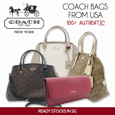 COACH BAGS from USA ReadyStock New Designs 100%Authentic Brand New 57d143a237a18