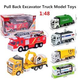 자동차 장난감 풀백 굴착기 트럭 모델 자동차 Firetruck 익스프레스 자동차 스프링클러 어린이 아기 장난감 선물