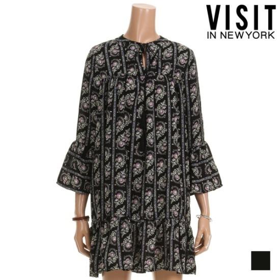・ビジット・インニューヨークオリエンタルパターンワンピースVTHOP25 面ワンピース/ 韓国ファッション
