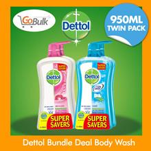FLASH DEAL! (TWIN PACK) Dettol Bundle Deal Body Wash (950ml + 950ml) / Original / Fresh / Cool