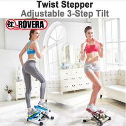 [Italy ROVERA] Premier Twist Stepper★Low noise wire★Adjustable step length and 3-Step Tilt★ Advanced Cylinder/Compact Size/Aerobic Leg Hip Abs sides Health Exercise Machine