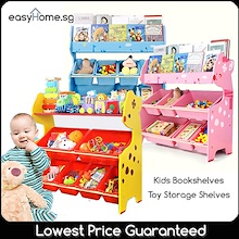 Kids Storage Shelves Bookshelves / Toy Rack Space Saving Shelf Organizer