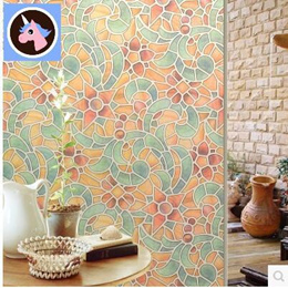 Vintage stained glass adhesive film