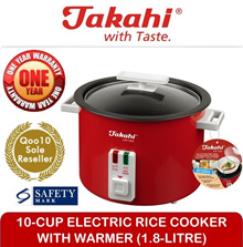 [TAKAHI] 10-Cup Electric Rice Cooker With Warmer (1.8L)(Model:1618)