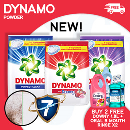 [PnG] FREE DOWNY and ORAL B MOUTHRINSE NEW Dynamo POWDER 3.3KG/3.6KG Red/ TOD/Color Care