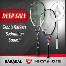 [Never Before Sale] | Tecnifibre Squash Tennis Rackets | EYE Squash | Karakal Badminton Rackets |
