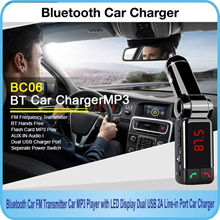 LED Bluetooth Car Kit MP3 FM Transmitter SD USB Charger Handsfree for iPhone Samsung and Smart phone