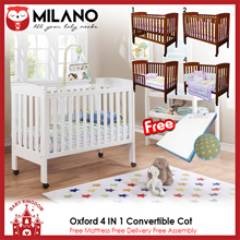 Milano Classic 4-in-1 Convertible Baby Cot