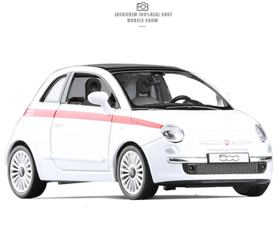 Wholesale Brand New Rmz City 1 36 Fiat 500 Alloy Diecast Model Car Toys For Children Gifts Toys Free