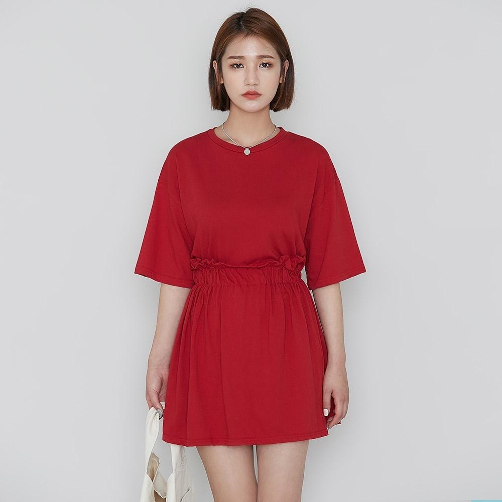 [ROCOSIX官方旗艦店] 棉製短裙套裝(短袖+裙子)