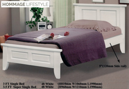 Solid Timber Bed Frame In 4 Sizes and 2 Finishing