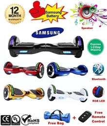 ★Samsung Batt Hoverboard★ [7/10 inch] Extendable Handle + Travel Bag + Remote Control + Bluetooth + RGB LED + 12 Months SG Local Warranty + FREE 1-2 Days Delivery / Segway / Swayway / IO Hawk