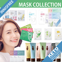 [innisfree]New my real squeeze mask pack x10sheets/skin clinicx5/anti aging x3/coconut second skin