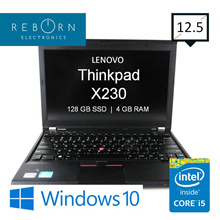 [Refurbished] LenovoThinkpad X230  /IntelCoreI5 /160GBSSD/ 4GBRAM / Wins10/ 30 Warranty