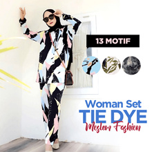 Best Deal || One Set Tie Dye Daily Clothes Top and Bottom Set _ Moslem Clothing