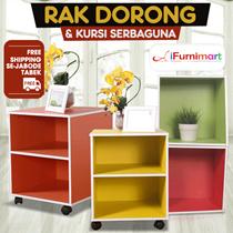 [Best Offer] iFurnimart - Rak Dorong - Color Box - Kursi Plastik -  Free Shipping Jabodetabek