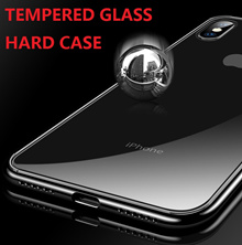 2018 iPhone Xs iPhoneXs Max iPhone XR iPhoneX Casing Tempered Glass Hard Cover